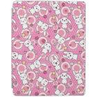 kawaii pink pattern iPad cover