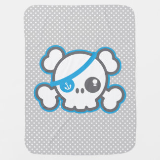 Kawaii Pirate Skull Baby Blanket