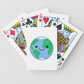 Kawaii Planet Earth Bicycle Playing Cards