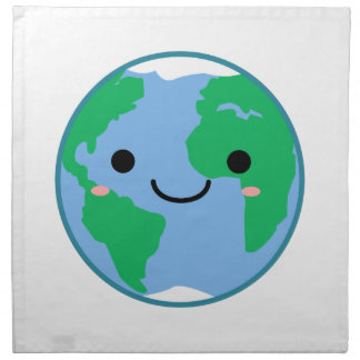 Kawaii Planet Earth Napkin