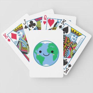 Kawaii Planet Earth Poker Deck