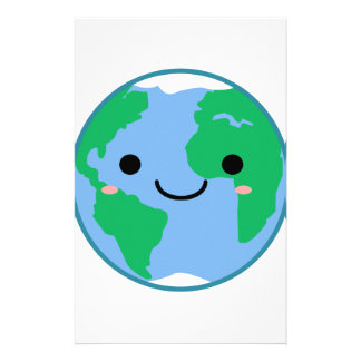 Kawaii Planet Earth Stationery