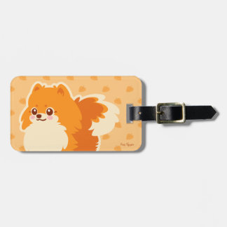 Kawaii Pomeranian Cartoon Dog Luggage Tag