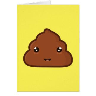 Kawaii Poo Greeting Card