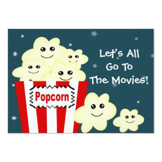 Kawaii Popcorn Movie Theme Party Card