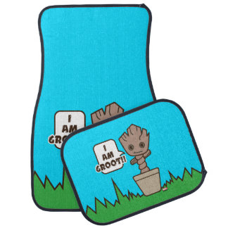Kawaii Potted Groot Car Mat
