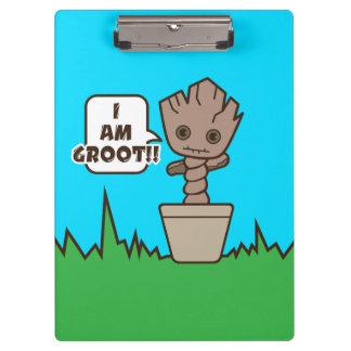 Kawaii Potted Groot Clipboard