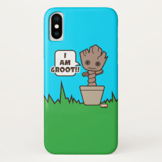 Kawaii Potted Groot iPhone X Case