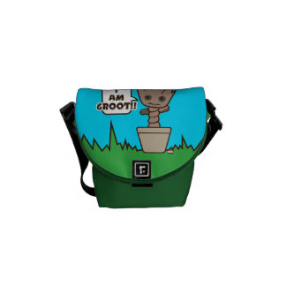 Kawaii Potted Groot Messenger Bag