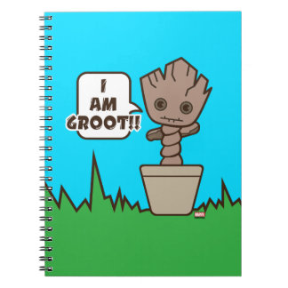 Kawaii Potted Groot Notebooks