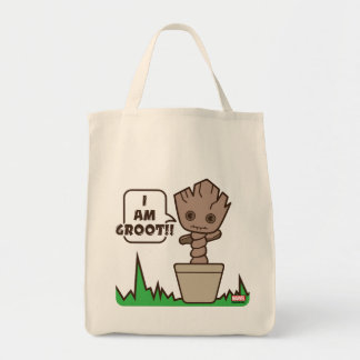 Kawaii Potted Groot Tote Bag