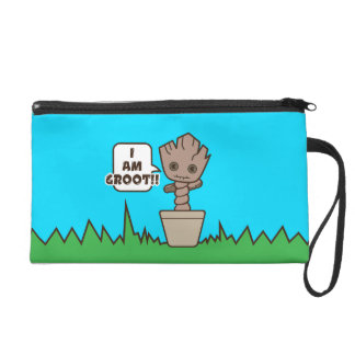 Kawaii Potted Groot Wristlet