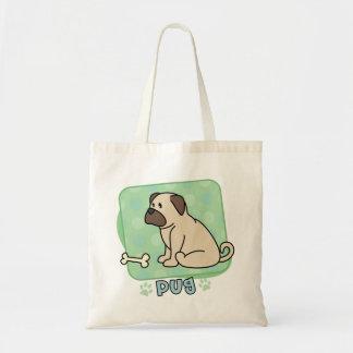 Kawaii Pug and Bone Bag