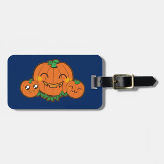 Kawaii pumpkin luggage tag