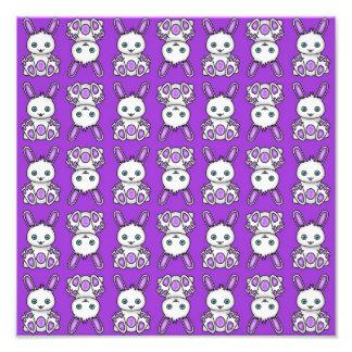 Kawaii Purple Bunny Pattern Photo