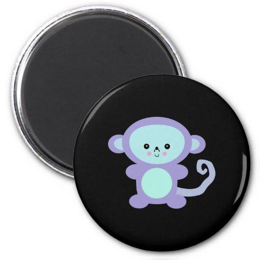 kawaii purple monkey refrigerator magnet