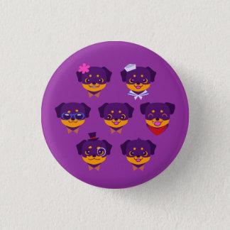 Kawaii Purple Rottweiler Puppy Pattern 3 Cm Round Badge