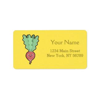 Kawaii Radish Address Label