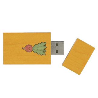 Kawaii Radish Wood USB 3.0 Flash Drive