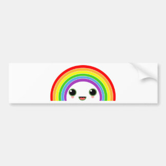 kawaii rainbow bumper stickers