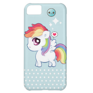 Kawaii rainbow pony cover for iPhone 5C