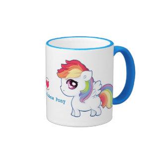 Kawaii rainbow pony - Personalised Coffee Mugs