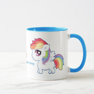 Kawaii rainbow pony - Personalized Mug