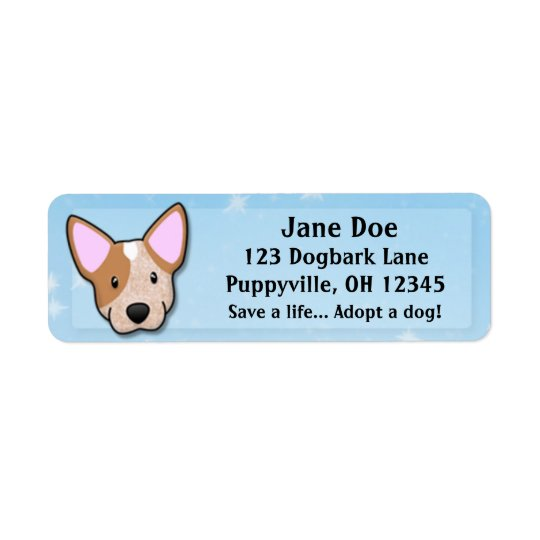 Kawaii Red Heeler Return Address Label