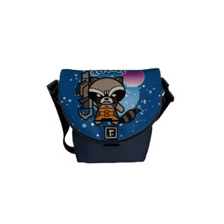 Kawaii Rocket Raccoon In Space Commuter Bag