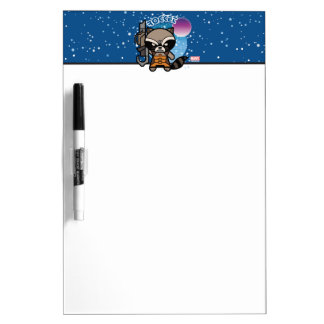 Kawaii Rocket Raccoon In Space Dry Erase Board
