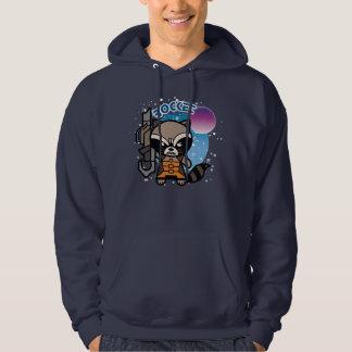 Kawaii Rocket Raccoon In Space Hoodie