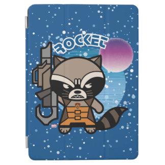 Kawaii Rocket Raccoon In Space iPad Air Cover