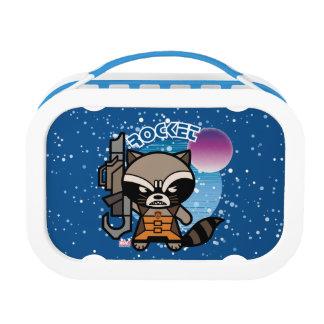 Kawaii Rocket Raccoon In Space Lunch Box