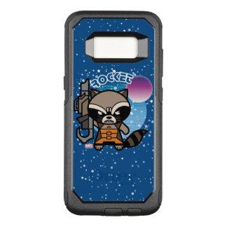Kawaii Rocket Raccoon In Space OtterBox Commuter Samsung Galaxy S8 Case