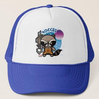 Kawaii Rocket Raccoon In Space Trucker Hat