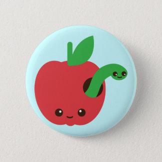 Kawaii Rotten Apple 6 Cm Round Badge