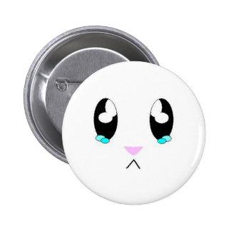 Kawaii Sad Bunny Face 6 Cm Round Badge