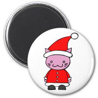 Kawaii Santa Cat Fridge Magnet
