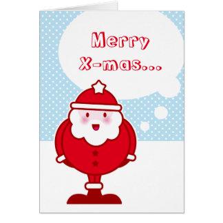 Kawaii Santa Greeting Card
