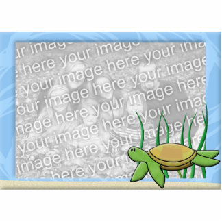 Kawaii Sea Turtle Photo Frame Photo Sculpture Magnet