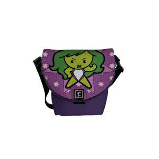 Kawaii She-Hulk Flex Courier Bag
