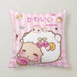 Kawaii sheep and cute donut cushion