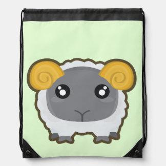 Kawaii Sheep Drawstring Bag