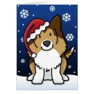 Kawaii Sheltie Christmas Card