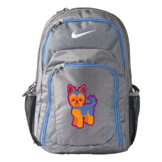 Kawaii Short Hair Yorkie Cartoon Dog Backpack