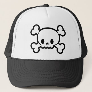Kawaii Skull & Crossbones Trucker Hat Halloween
