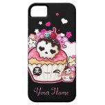Kawaii skull cupcake with stars and hearts iPhone 5 case