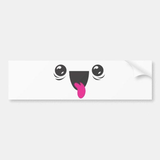 Kawaii Smiley Bumper Stickers