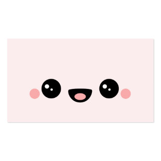 Kawaii Smiley Pack Of Standard Business Cards