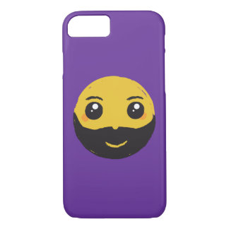 Kawaii Smiley Smiling with Beard & Mustache iPhone 7 Case